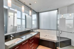 5 Piece Bathrooms  at Renaissance Tower, 501 W. Olympic Boulevard, CA