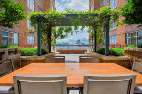 Our Mesmerizing views of the Baltimore Inner Harbor at Crescent at Fells Point by Windsor, Baltimore, Maryland
