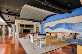 Resident Lounge with Billiard and Shuffleboard Tables