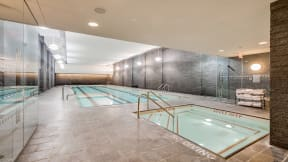 Indoor, Lap Pool and Spa at The Aldyn, 60 Riverside Blvd., New York