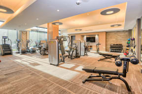 Amenities-Fitness Center at Platt Park by Windsor, Denver, CO