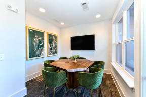 Work pods and seating at Elevate West Village, Smyrna, GA