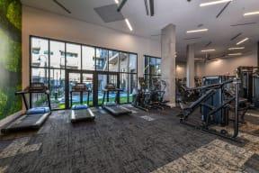 Cardio equipment at Elevate West Village, Smyrna, GA