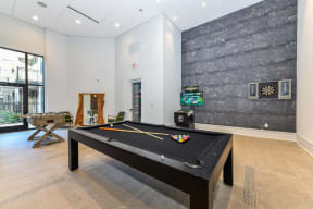 Billiards table at Elevate West Village, 4520 Pine Street, Smyrna