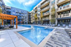 Resort style pool at Elevate West Village, 4520 Pine Street, Smyrna
