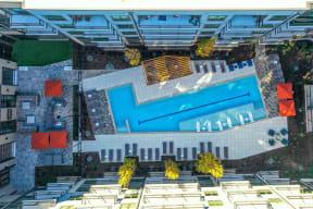 View of courtyard at Elevate West Village, 4520 Pine Street, GA