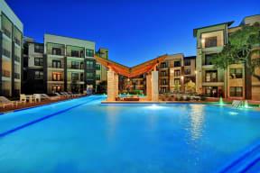 Resort Style Pool with Swim Up Lounge at Windsor Ridge, Austin, TX, 78727