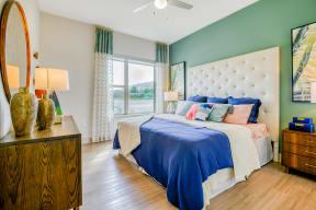 Hardwood flooring in bedrooms