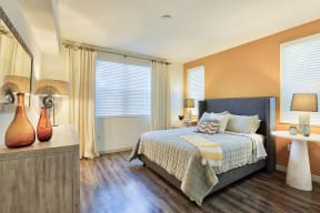 Cozy bedrooms with large walk-in closets at Windsor at Delray Beach, Delray Beach, 33483
