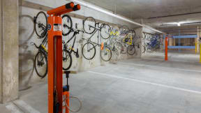 Fixation stations in the Bike Room help you keep your bike rolling. at Eleven by Windsor, Texas