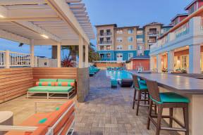 Poolside Lounge Area at Blu Harbor by Windsor