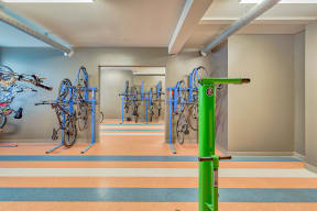 Bike wash and storage at Blu Harbor by Windsor