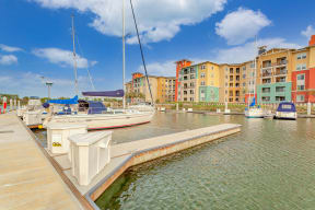 Marina dock at Blu Harbor by Windsor