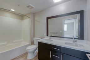 Dual bathroom vanities at Boardwalk by Windsor