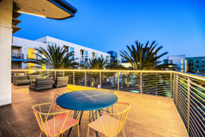 Roof deck lounge at Boardwalk by Windsor
