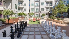 Challenge your friends to a game of life-sized chess. at Eleven by Windsor, Austin, TX