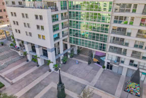 Entrance to Grand Hope Park from Downtown Los Angeles from Renaissance Tower, 501 W. Olympic Boulevard, Los Angeles