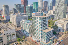 Views of Downtown Los Angeles from Renaissance Tower, 501 W. Olympic Boulevard, Los Angeles