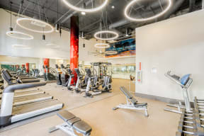 State of the art fitness center at Dublin Station by Windsor