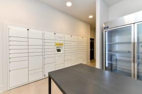 24 hour parcel locker at Elevate West Village, 4520 Pine Street, GA