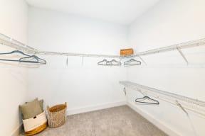 Walk in closet at Elevate West Village, 4520 Pine Street, Smyrna