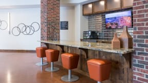 Start your day with coffee and tea in the Eleven Lounge. at Eleven by Windsor, Texas