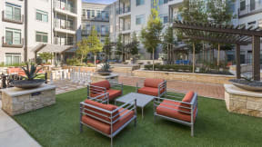 Beautiful landscaped courtyards provide the perfect setting. in Austin TX