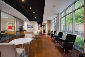 Executive Lounge with Wi-Fi and 24-Hour Coffee/Tea Bar at Crescent at Fells Point by Windsor, 21231, MD
