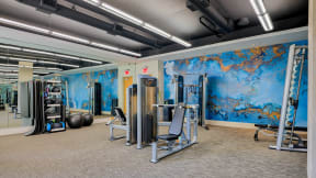 Fully-equipped fitness center at Crescent at Fells Point by Windsor 21231, MD
