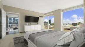 Spacious penthouse interiors at Flair Tower Apartments, IL, 60654