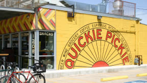 With an 84 Walk Score, you'll enjoy walking to great local spots like Quickie Pickie, featuring 27 taps, a full kitchen, and convenient items. at Eleven by Windsor, Austin
