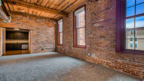 Historic brick walls with 8' windows at Jack Flats by Windsor, Massachusetts, 02176