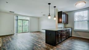 luxury vinyl flooring throughout the living space