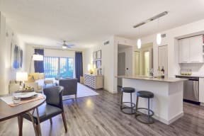 Enjoy hardwood-style floors and ceiling fans in your new apartment in Delray Beach at Windsor at Delray Beach, Delray Beach