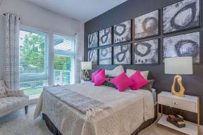 Lush carpeting in bedrooms at Metro West, 75024, TX