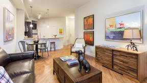 Open-concept floor plans allow you to create the perfect space. at Eleven by Windsor, Austin, TX