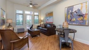 Hard surface flooring, 10 foot ceilings, and an upgraded lighting package. at Eleven by Windsor, Austin, TX, 78702
