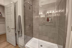 Stand up shower at Windsor Preston, Plano, Texas