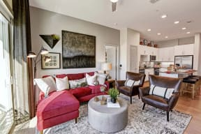 Open concept floor plans at Windsor Preston, Plano, Texas