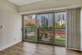 Views from apartment at Renaissance Tower, California, 90015