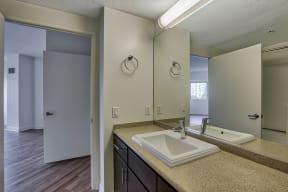 Modern bathroom at Renaissance Tower, California, 90015