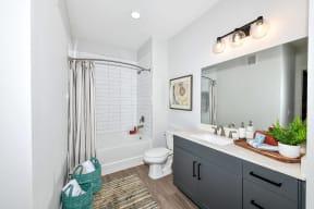 Luxurious bathroom at Elevate West Village, Smyrna, Georgia