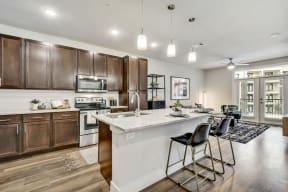 Gourmet Kitchen With Island at Windsor Ridge, Austin, TX, 78727