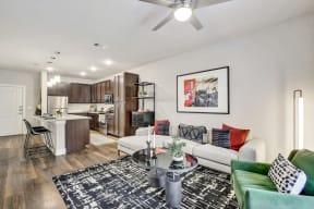 Modern Living Room at Windsor Ridge, Austin
