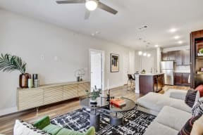Ceiling fans in apartments at Windsor Ridge, Austin, TX, 78727