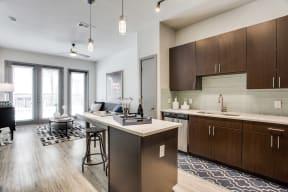 Modern Kitchens with Quartz Countertops at Windsor West Lemmon, 3650 Cedarplaza Lane, Dallas