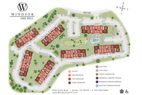 Site Map at Windsor Oak Hill, Austin, 78735