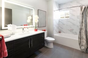 Master Bath with Double Vanity Sinks at Blu Harbor by Windsor, 1 Blu Harbor Blvd, CA