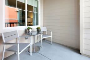 Private Apartment Balcony at Blu Harbor by Windsor, Redwood City, California
