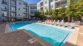 Spend warm days relaxing by our private pool at Eleven by Windsor, Austin, TX, 78702